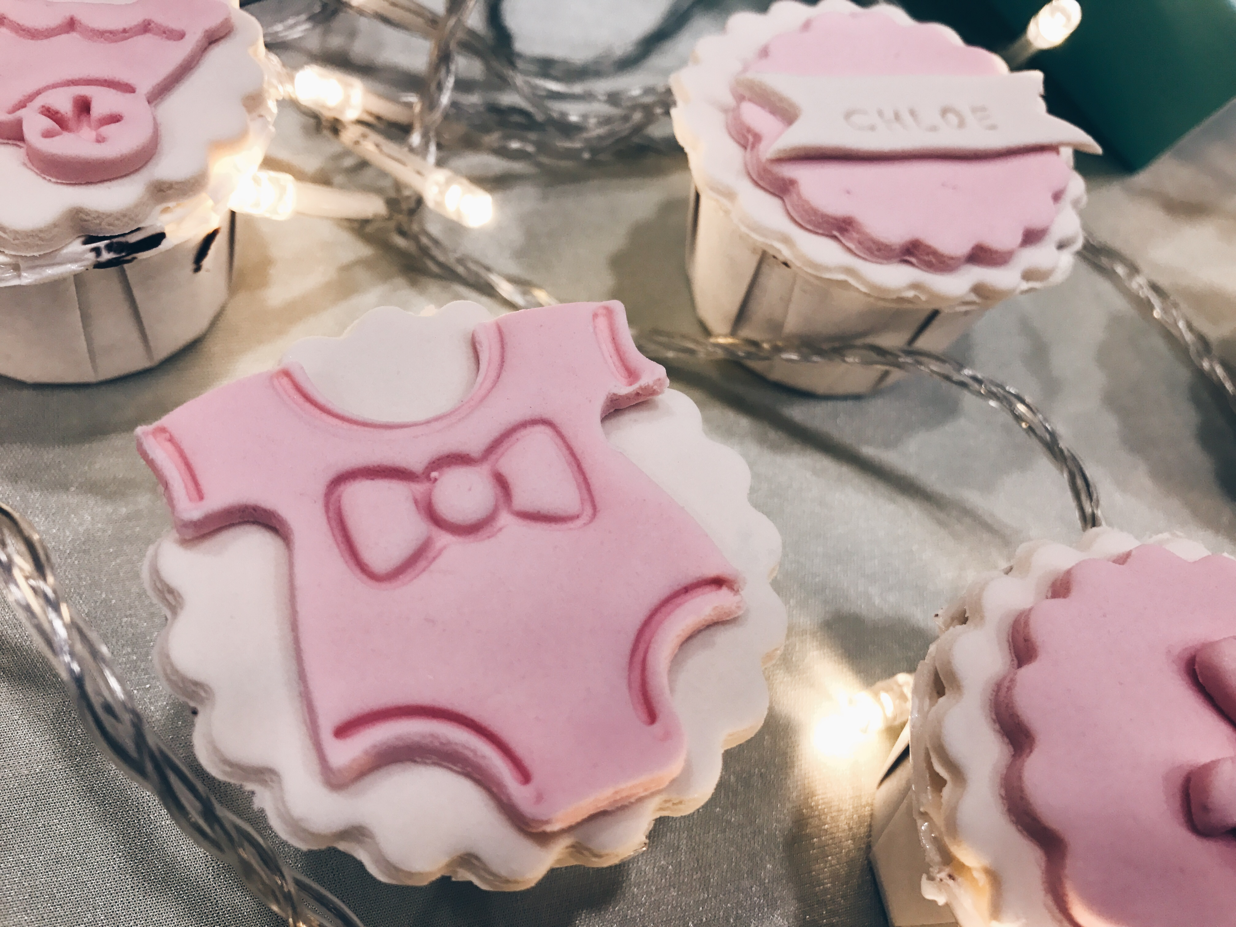 This Set Comes With 6 Cute Dainty Cupcakes And You Are Able To Stamp Your Babys Name On The Cupcake As Well Soooo
