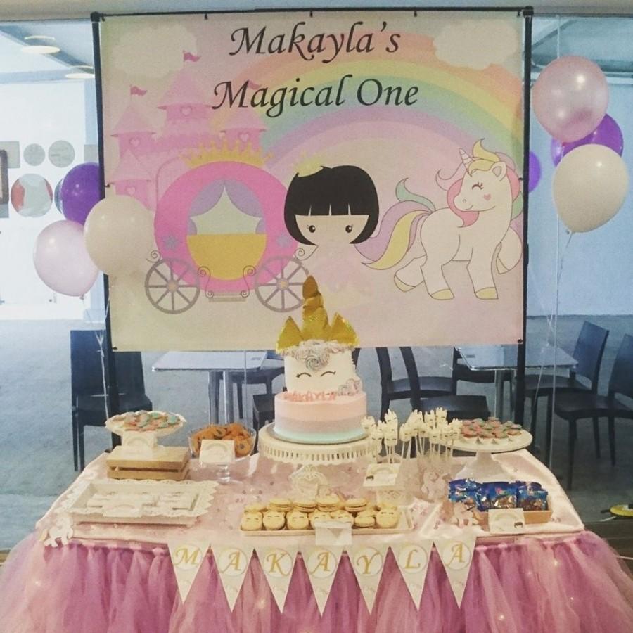 Unicorn Theme Birthday Dessert Table
