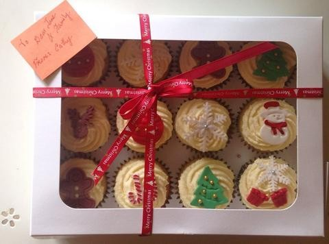 Christmas Cupcake Gift Box At 60 00 Per Box Cuppacakes Com Sg