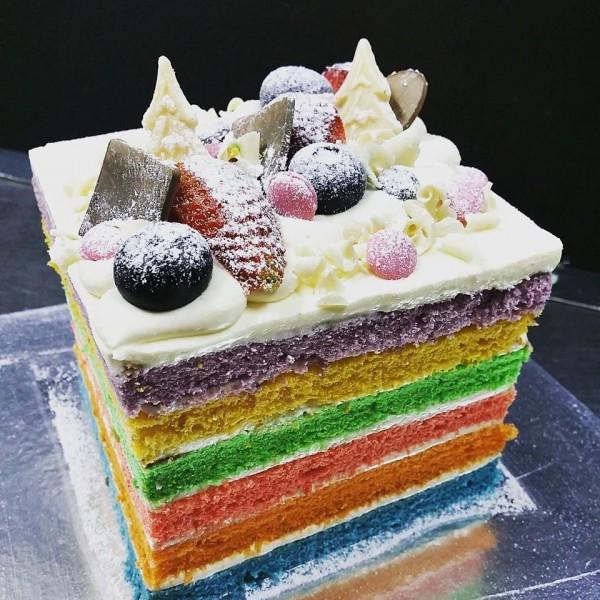 Rainbow Cake At 25 00 Per Cake Guru Patisserie Pte Ltd