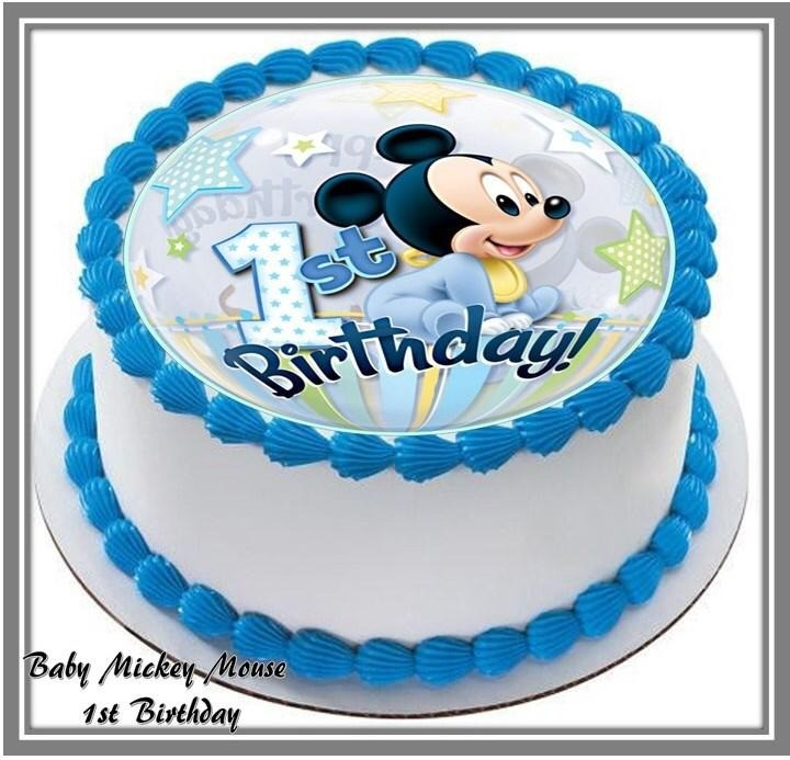 Superb Baby Mickey Mouse Mini Cake 12 Cupcakes At 88 80 Per Cake Personalised Birthday Cards Sponlily Jamesorg