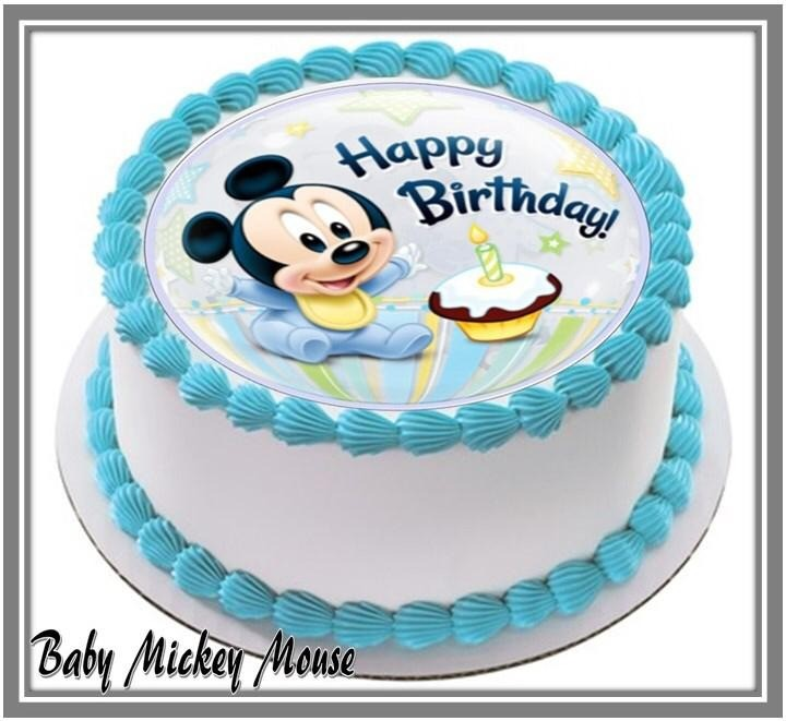 Astounding Baby Mickey Mouse Mini Cake 12 Cupcakes At 88 80 Per Cake Funny Birthday Cards Online Alyptdamsfinfo