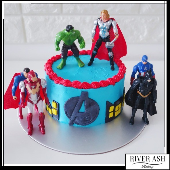 Avengers Superheros Cake at 7000 per Cake River Ash Bakery