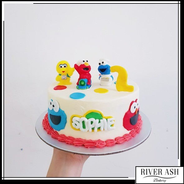 Sesame Street Party Cake At 9000 Per Cake River Ash Bakery