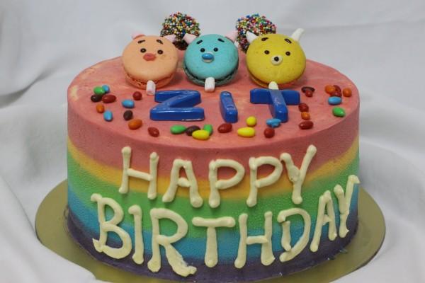 Rainbow Cake A Full 7 Layers