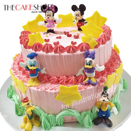 Mickey Family Tier At 162 00 Per Cake The Cake Shop