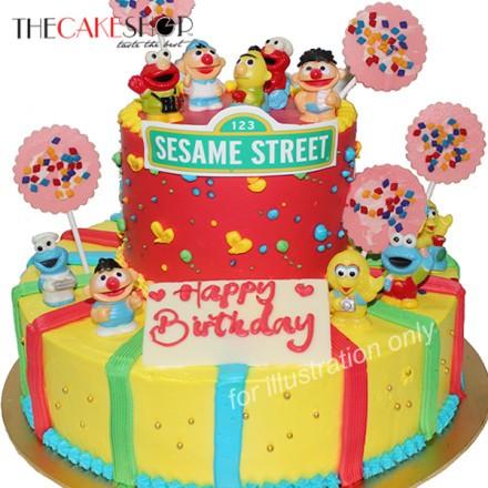 Sesame Street Joy At 162 00 Per Cake The Cake Shop