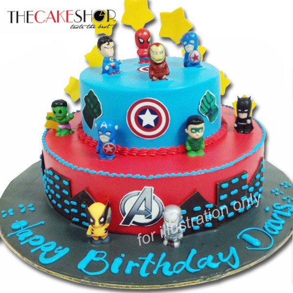 Avengers Assemble at 17500 per Cake The Cake Shop