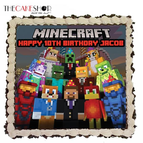 MINECRAFT FAMILY at 5890 per Cake The Cake Shop