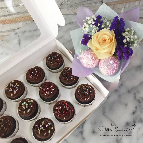 Cupcakes and Cake Pop Flower Bouquet at $68.00 per Item | The White ...
