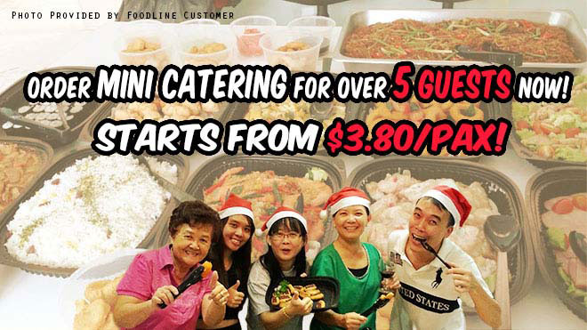 Catering for small gatherings from $3.80/pax