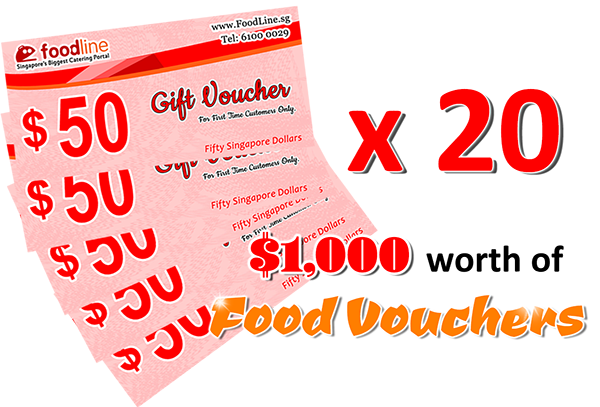 $1,000 Food Vouchers from FoodLine sg for all online orders