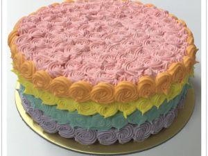 BB116 Rainbow Ice Cream Cake